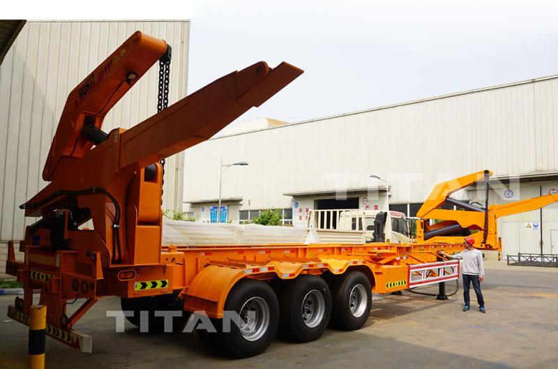 40ft container side loader transport trailer