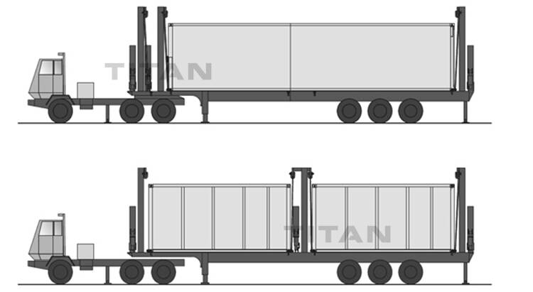 Drawing of Container Side Loader Trailer