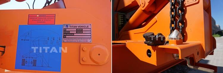 Details of 40ft side loader container truck