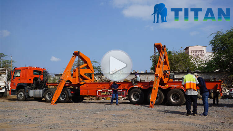 40Ft Side Loader Container trailer testing video display